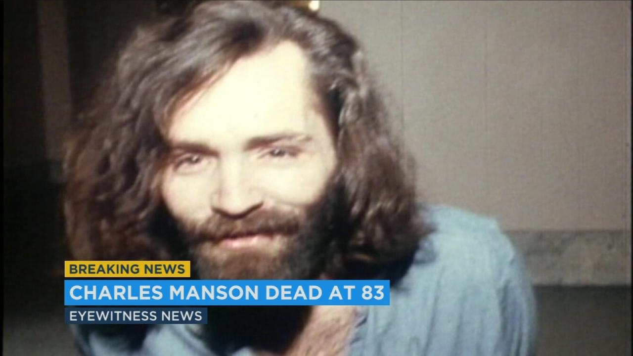An undated file photo of notorious cult leader Charles Manson, who died Sunday, Nov. 19, 2017.