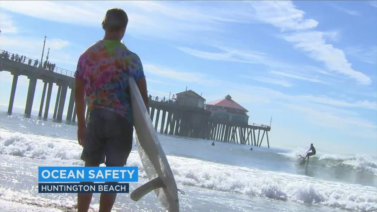 A water-safety course in Huntington Beach shows surfers how to recognize and respond to emergencies out on the water, like possible drownings or heart attacks.