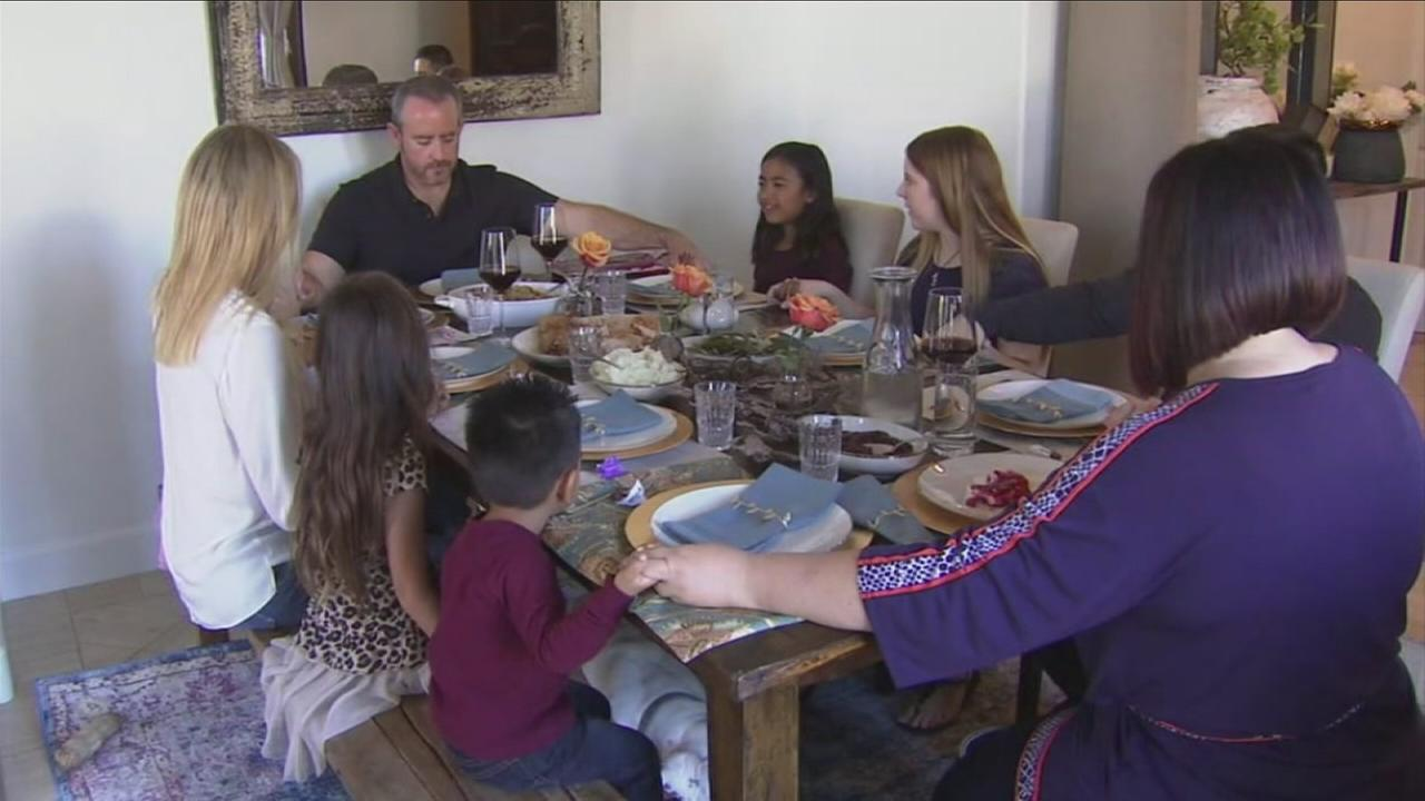 Four siblings who were up for adoption got to spend Thanksgiving together with their new families in Orange County.