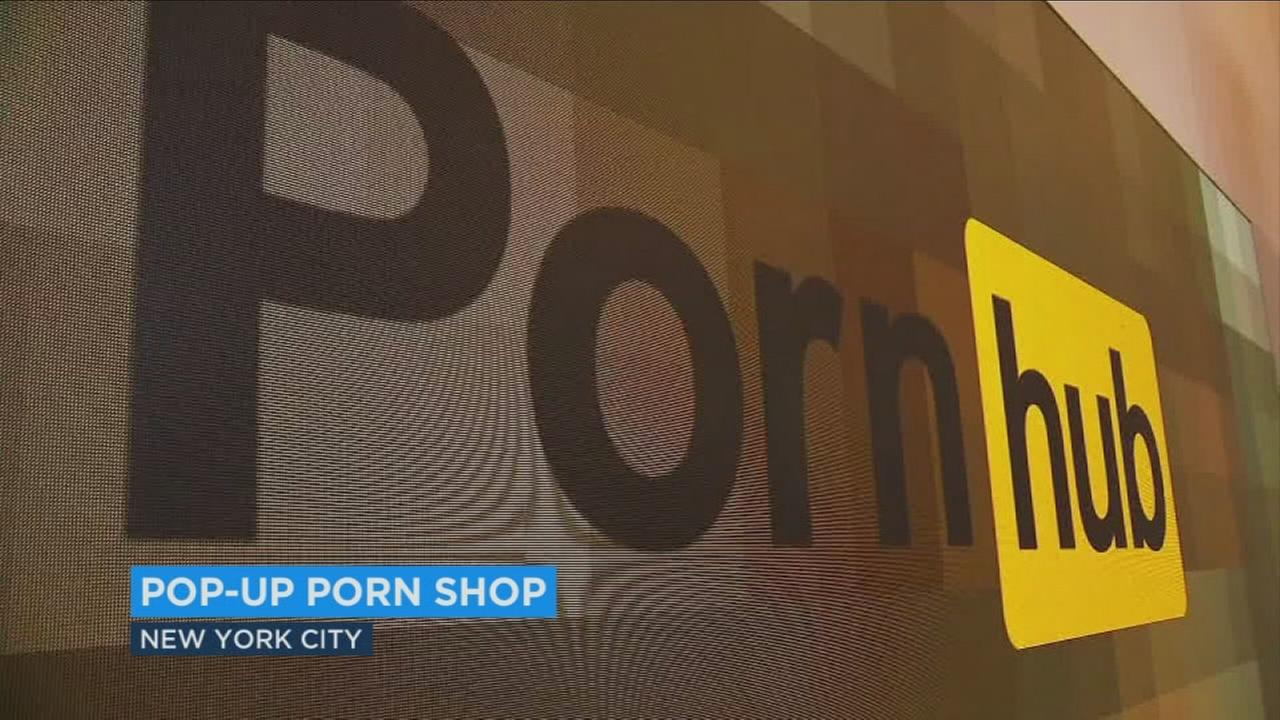 A popular porn website company has opened a provocative pop-up shop in New York City, offering sex toys and even a bedroom with livestreaming camera.