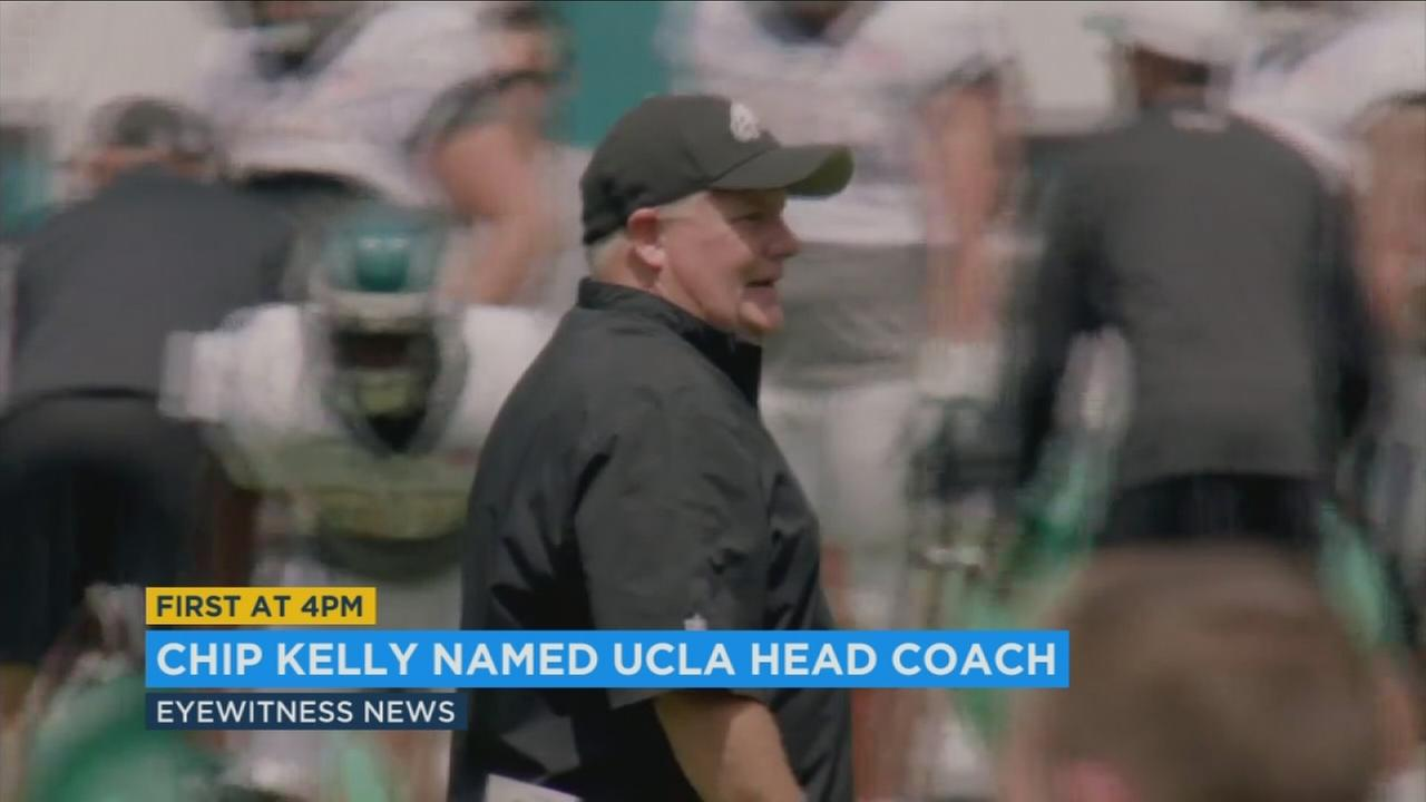 Former Oregon coach Chip Kelly has been hired as the head football coach at UCLA.