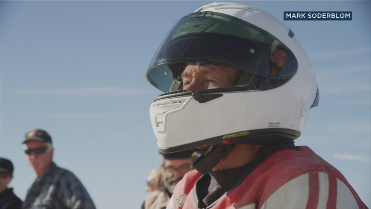 Ralph Hudson, 66, who owns a shop in Glendale, has set a new motorcycle speed record by hitting an average speed of 284 mph.