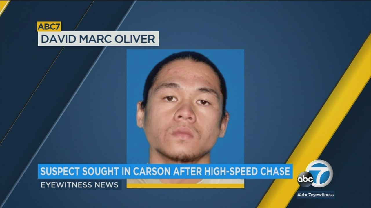 An undated photo of David Marc Oliver, who is considered a person of interest following a high-speed chase that ended in Carson on Saturday, Dec. 2, 2017.