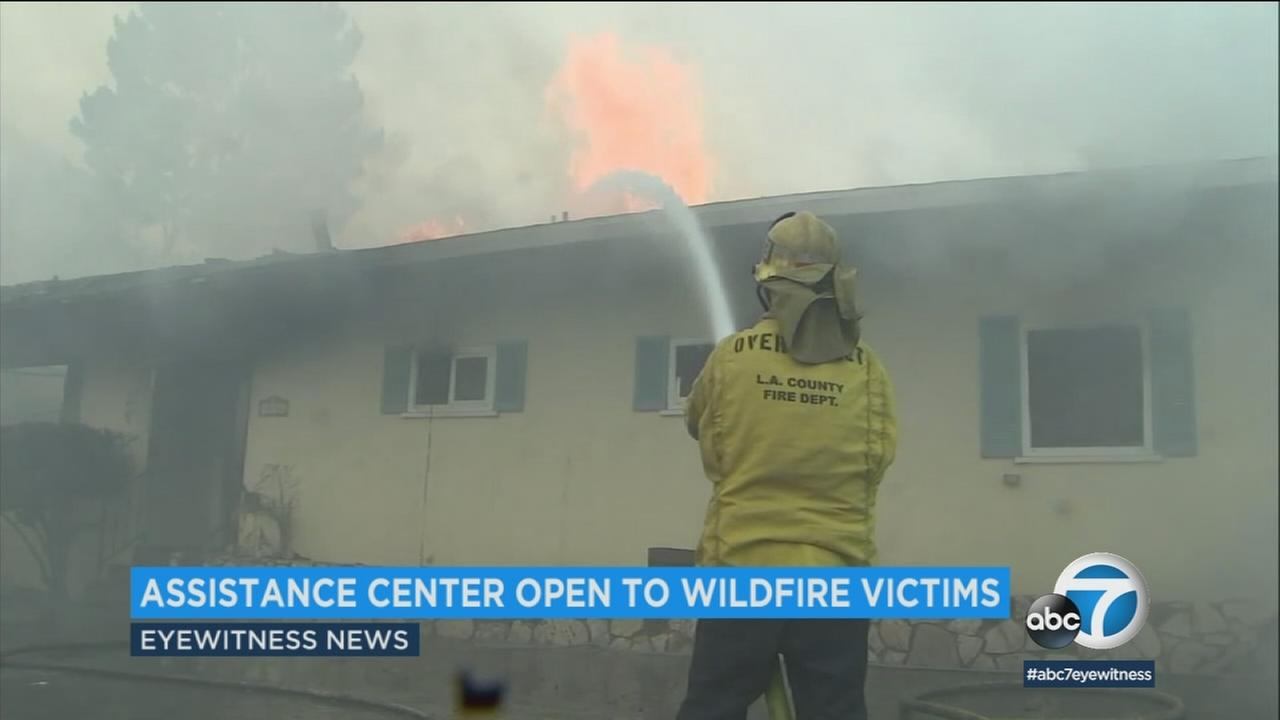 In the wake of all the fires over the past week, the city of Los Angeles has opened a local assistance center to help those affected get back on their feet.