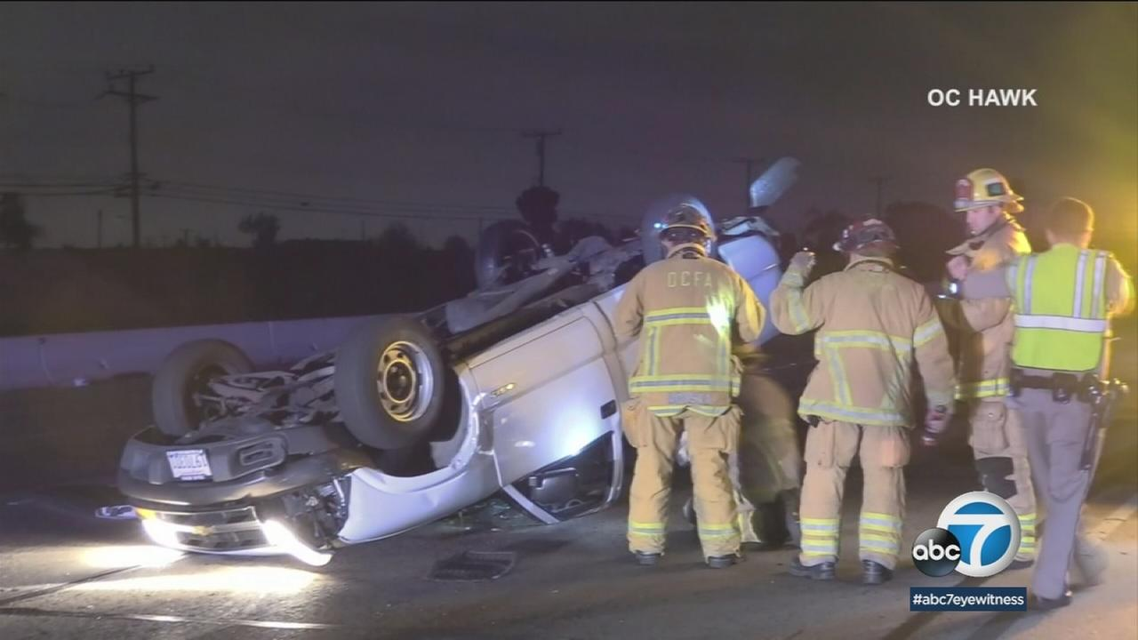 One person was killed in a multi-vehicle collision early Wednesday morning on the 405 Freeway in Westminster, prompting the closure of all southbound lanes for several hours.