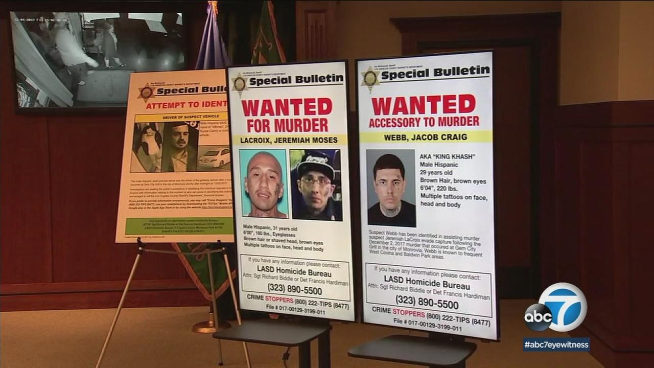 Authorities have arrested four suspects and are looking for three others in connection with a triple shooting at a Monrovia bar.