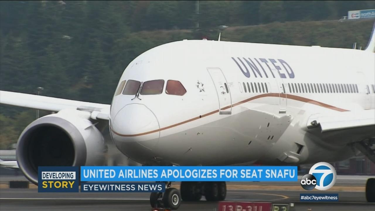 A United Airlines plane is shown in a file photo.