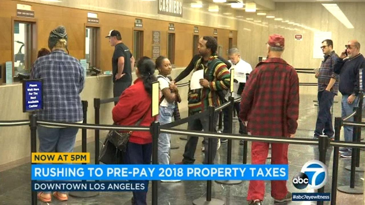 With news that the GOP tax bill will cap the deduction on property taxes at $10,000, many spent the holiday week rushing to pre-pay before the first of the year.
