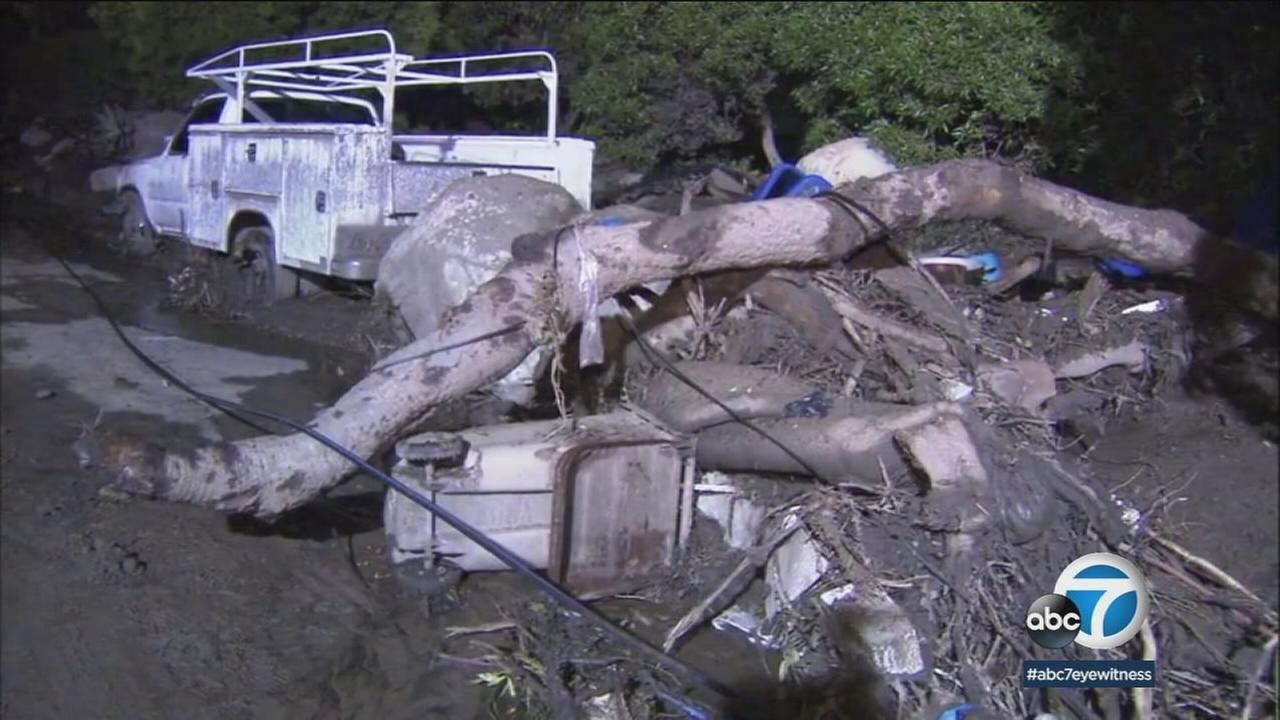 Hundreds of rescue workers in Montecito slogged through knee-deep mud Thursday as the search continued for victims after deadly mudslides slammed Santa Barbara County.