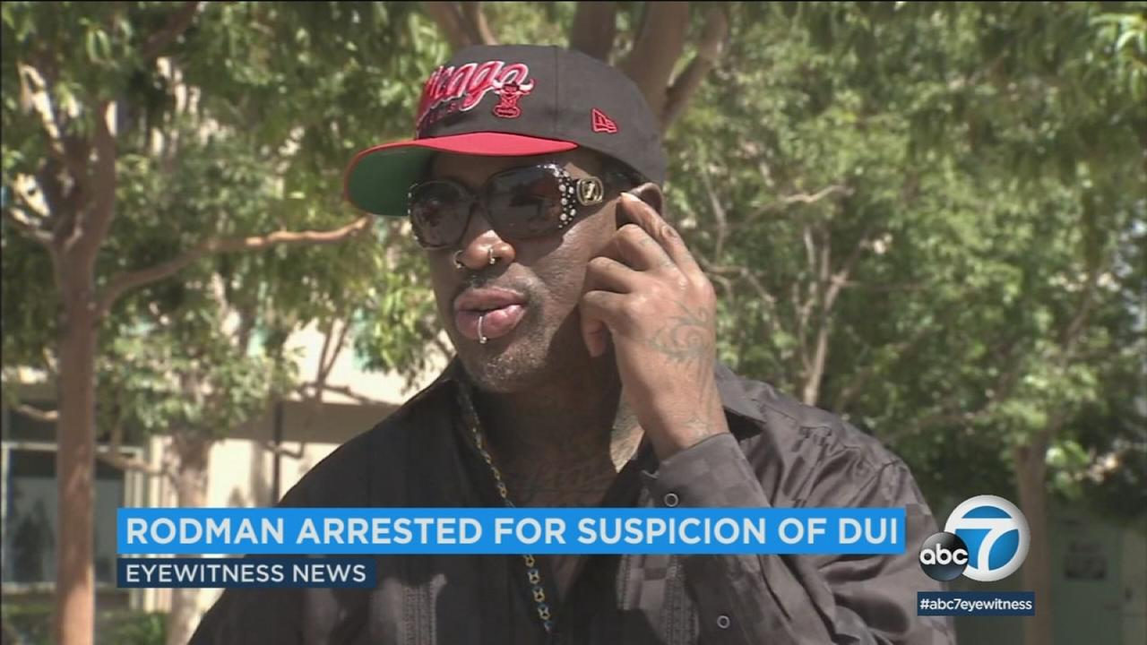 Former NBA star Dennis Rodman is out of jail after spending the night behind bars following his arrest on suspicion of DUI.