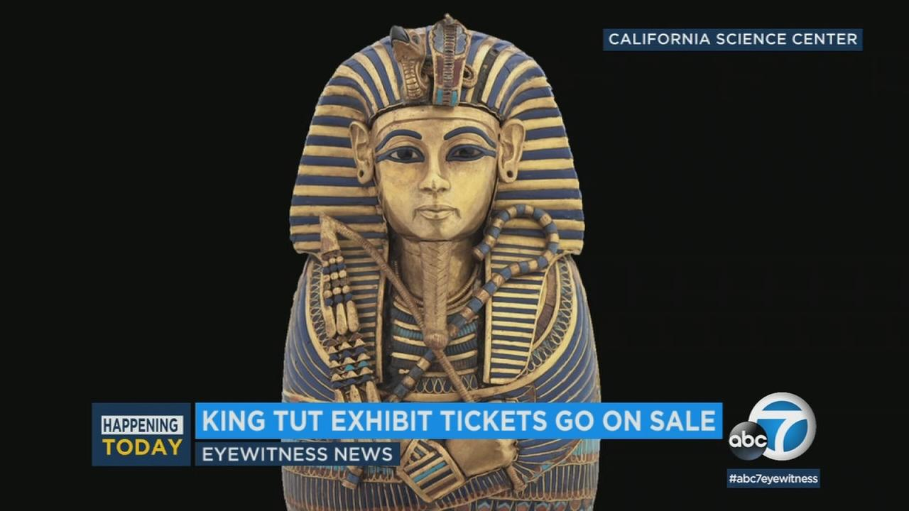 An artifact from the King Tut exhibit is seen in this photo.