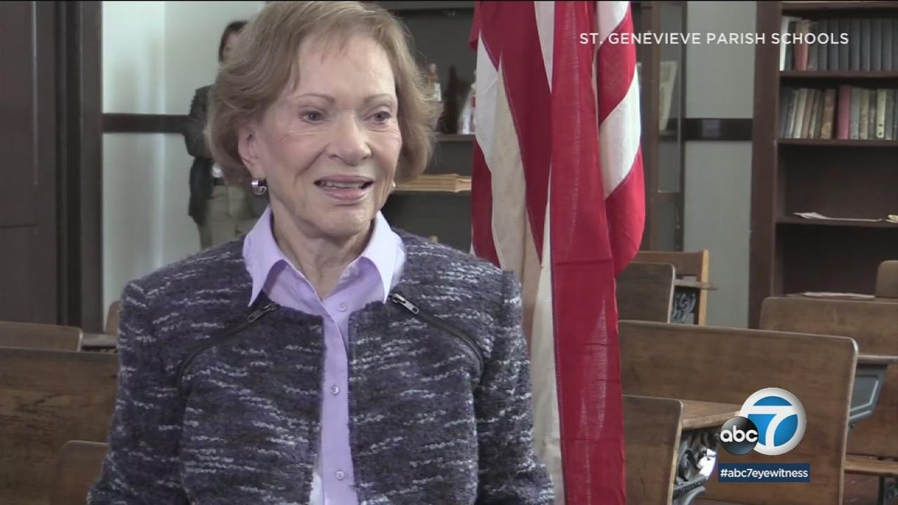St. Genevieve High School in Panorama City, which has maintained a friendship with Rosalynn Carter, is making a documentary about the former first lady.