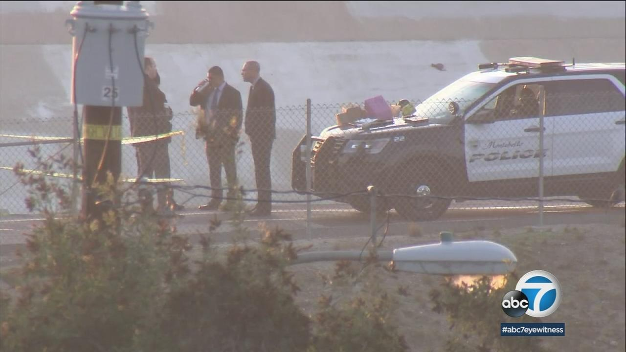 A homicide investigation is underway after a body was found along a bike path in Montebello early Wednesday.
