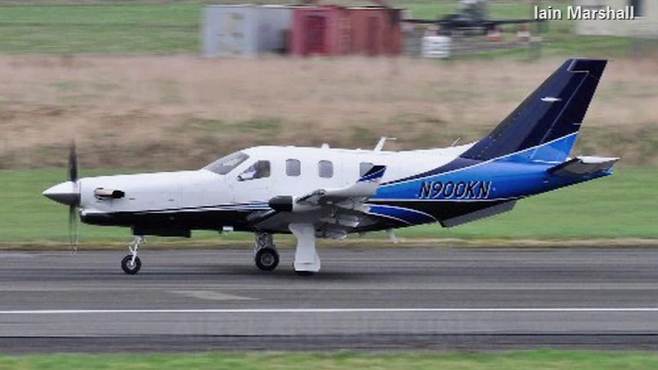 This undated file photo shows the type of plane that crashed off Jamaica on Friday, Sept. 5, 2014.