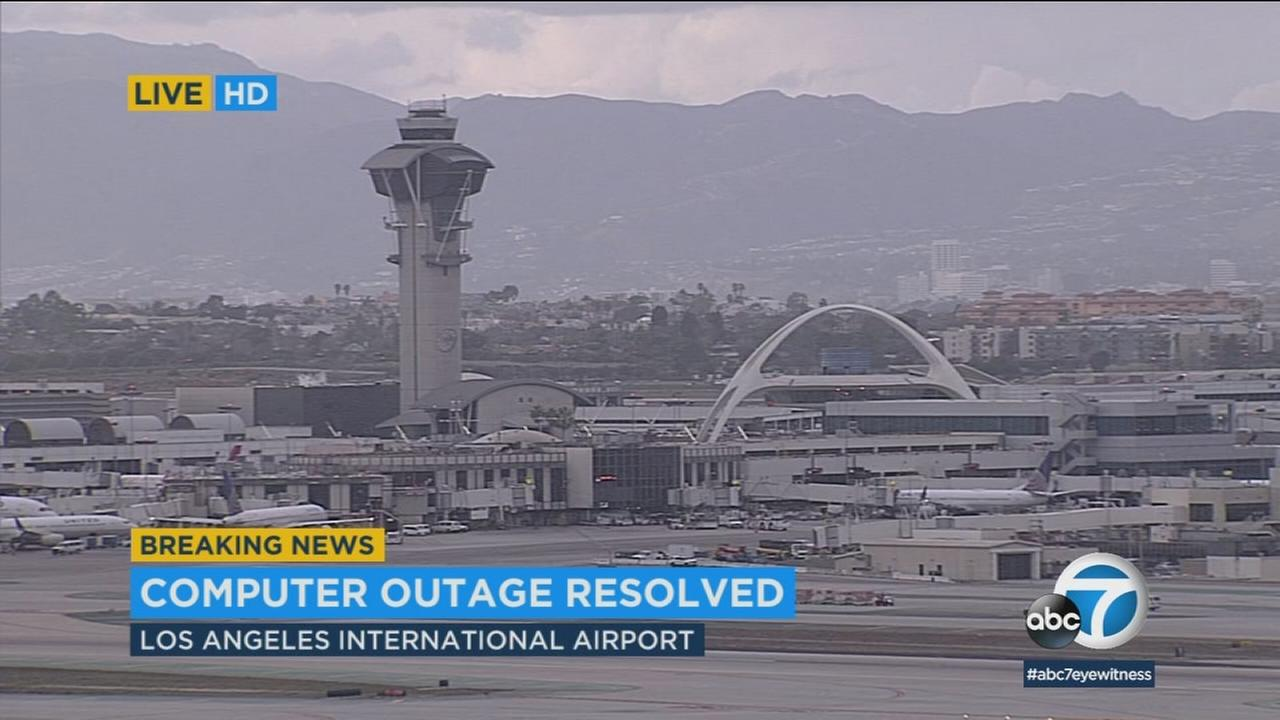 Los Angeles International Airport is seen following a Southwest Airlines outage on Friday, Jan. 19, 2018.