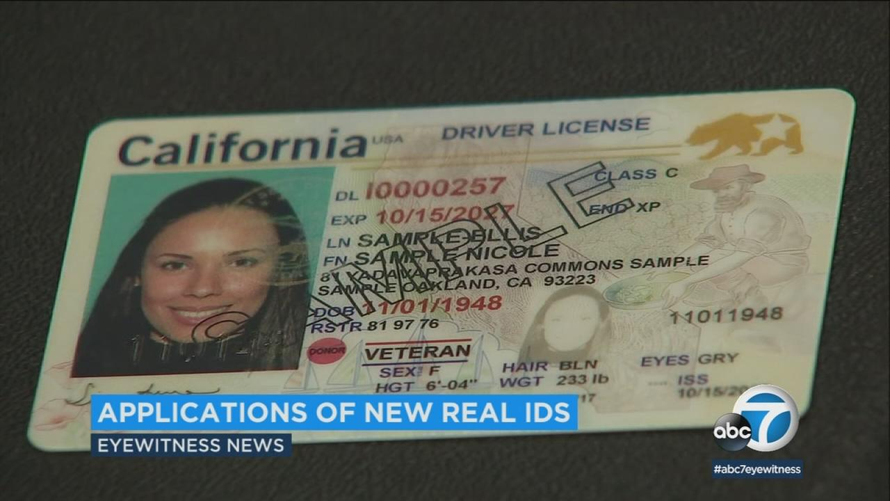An undated photo of a sample REAL ID.