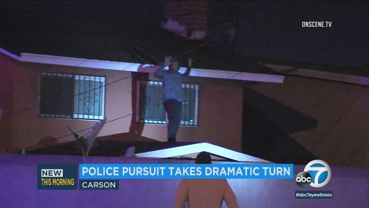 A police pursuit took a dramatic turn when a second vehicle tried to run interference in Los Alamitos.