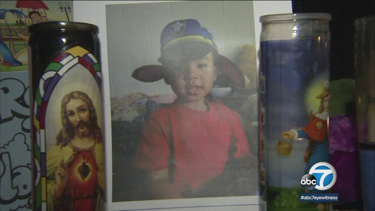 An undated photo of 3-year-old Franklin Ponros, who was shot and killed in Compton.