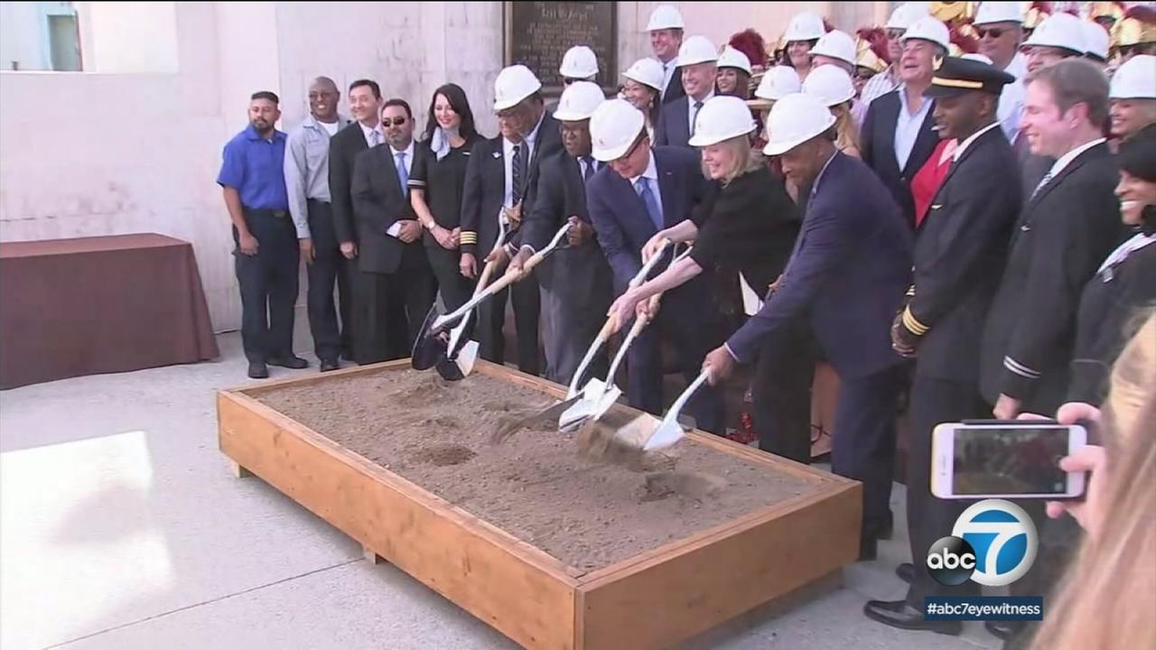 The Los Angeles Memorial Coliseum is getting a new look and a new name.