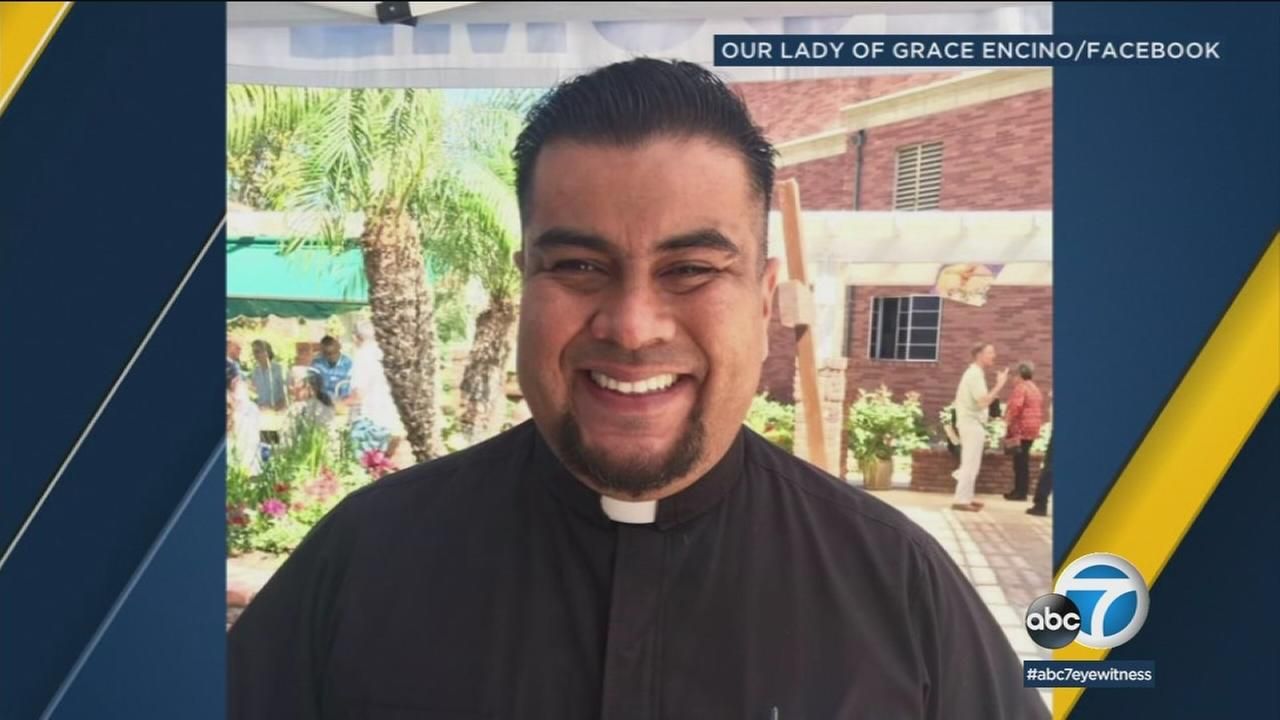Father Juan Cano is shown in a social media photo posted by Our Lady of Grace church.