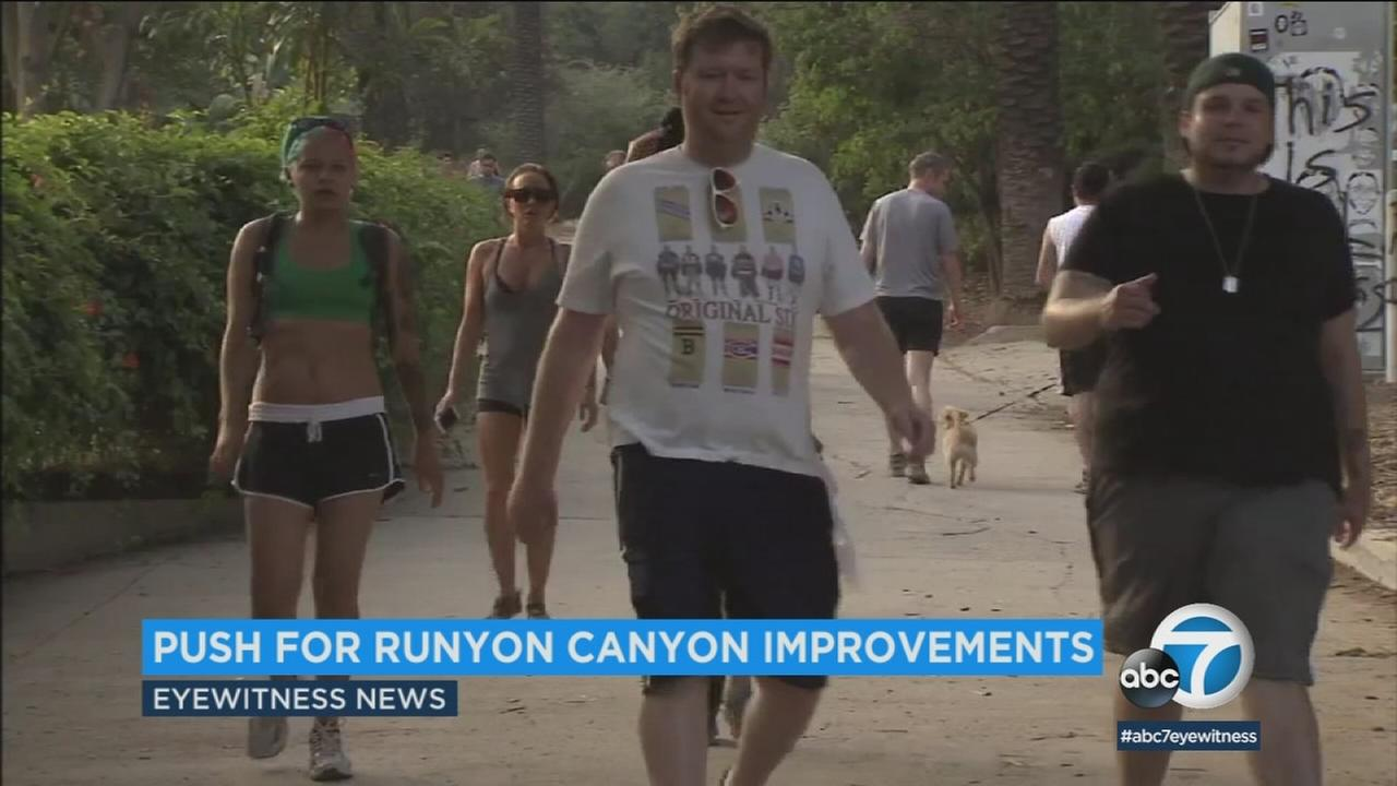 Runyon Canyon in the Hollywood Hills is a popular location for hiking.