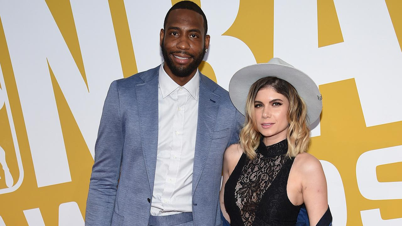 NBA player Rasual Butler, left, and Leah LaBelle arrive at the NBA Awards at Basketball City at Pier 36 on Monday, June 26, 2017, in New York.