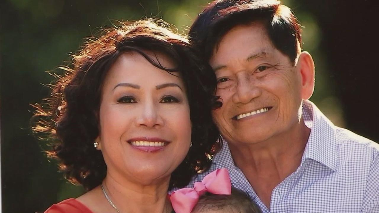 Helen Huynh is shown with her husband Vien Huynh in an undated photo.