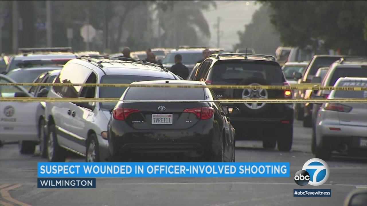 A man is recovering Saturday morning after he was struck by a bullet during a shootout between police and a chase suspect in Wilmington.