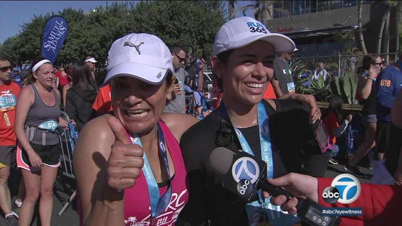 Runners hit the streets of Huntington Beach Sunday morning for the 22nd annual Surf City Marathon.