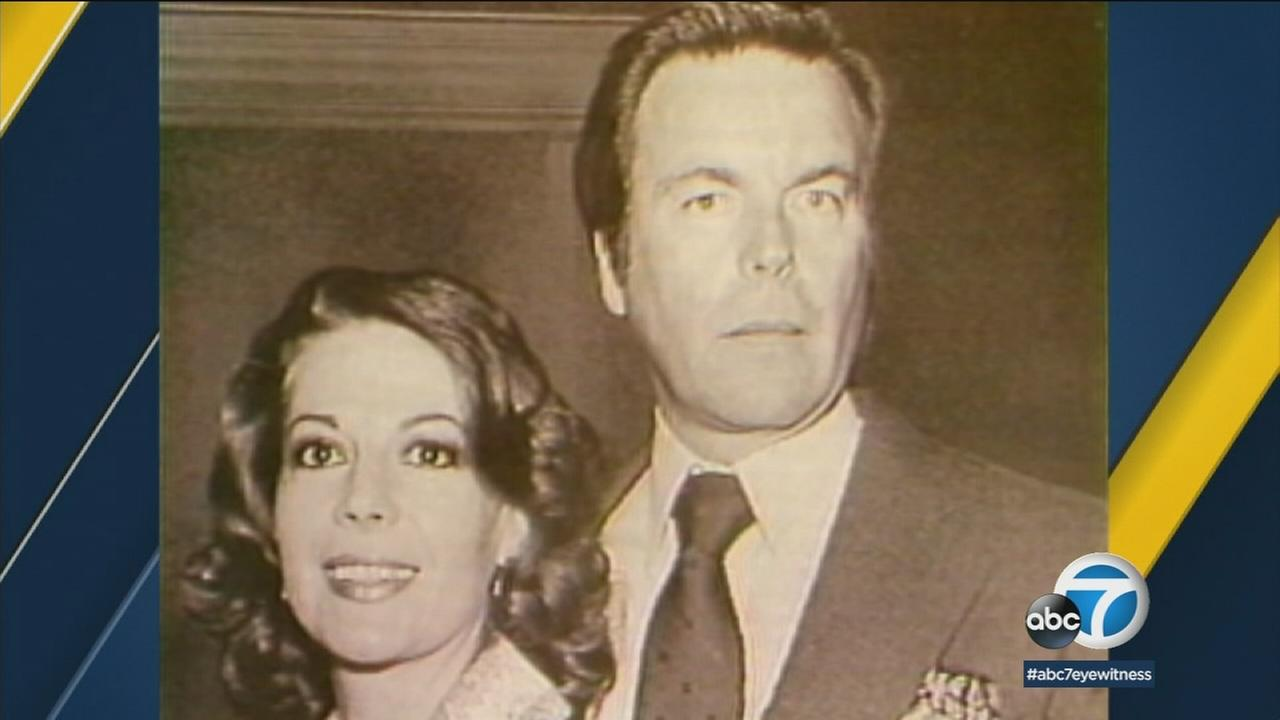 Natalie Wood and then-husband Robert Wagner are shown in a photo.