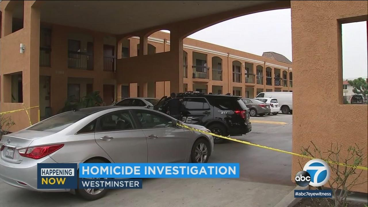 A woman in her 20s was found dead late Monday evening at a hotel in Westminster, prompting authorities to launch a homicide investigation.