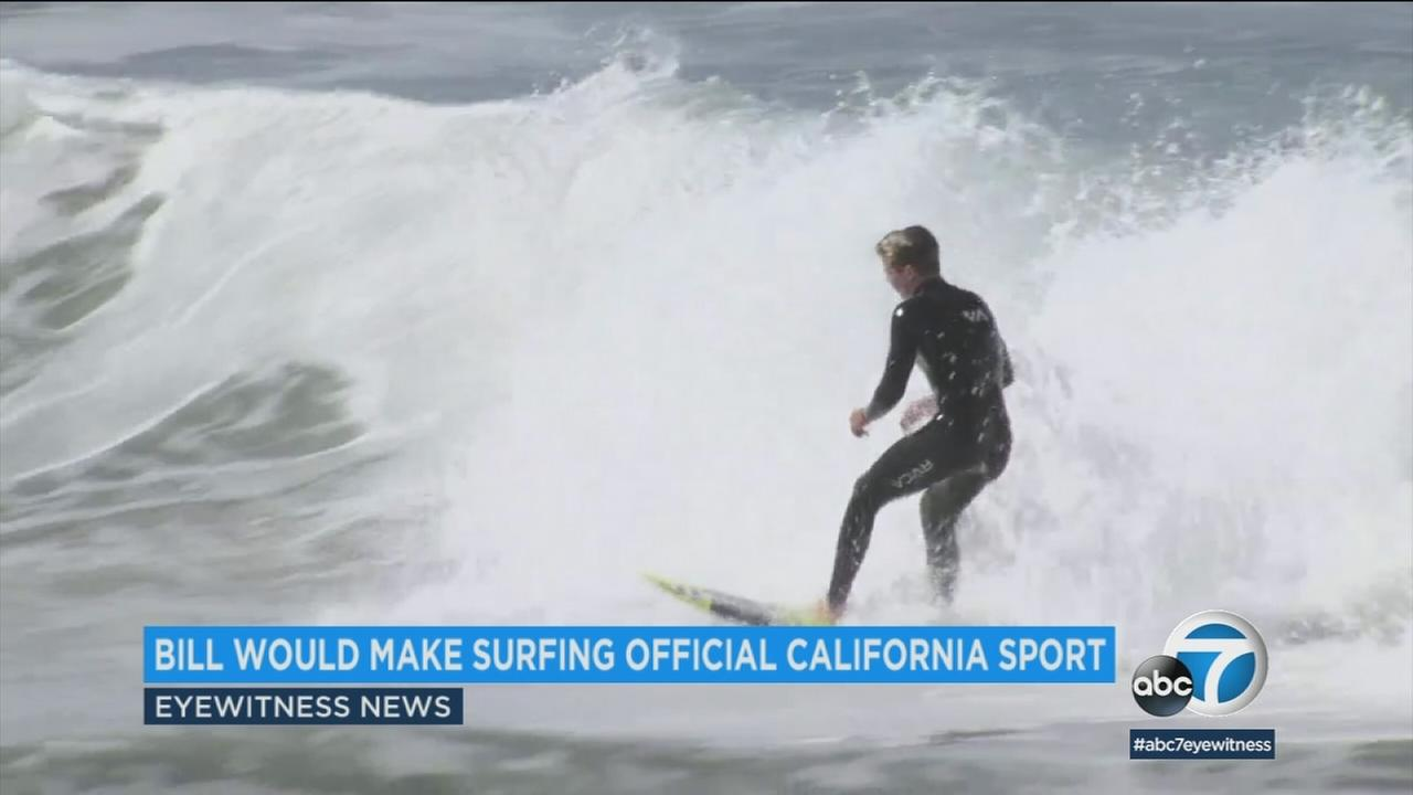 An undated photo of a boy surfing in Southern California.