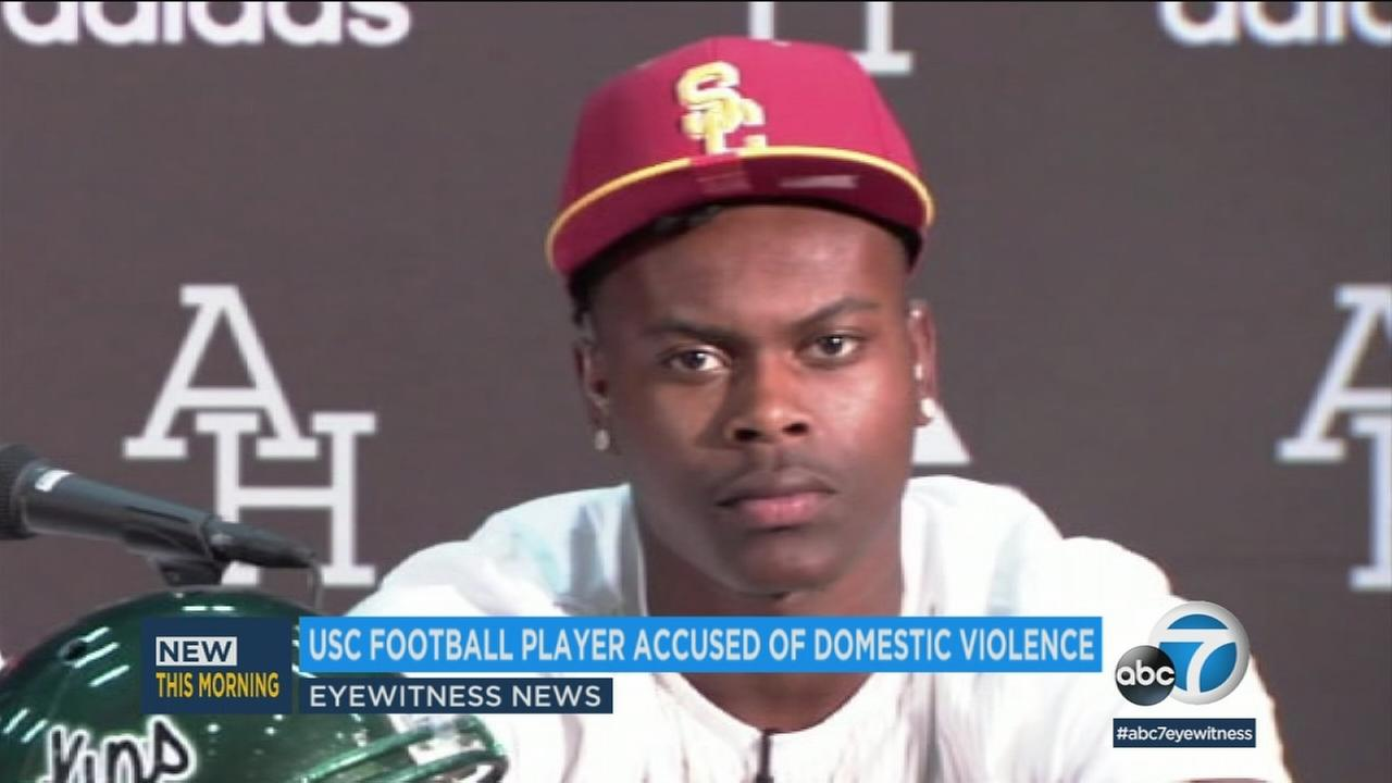 USC receiver Joseph Lewis IV is seen in an undated photo.