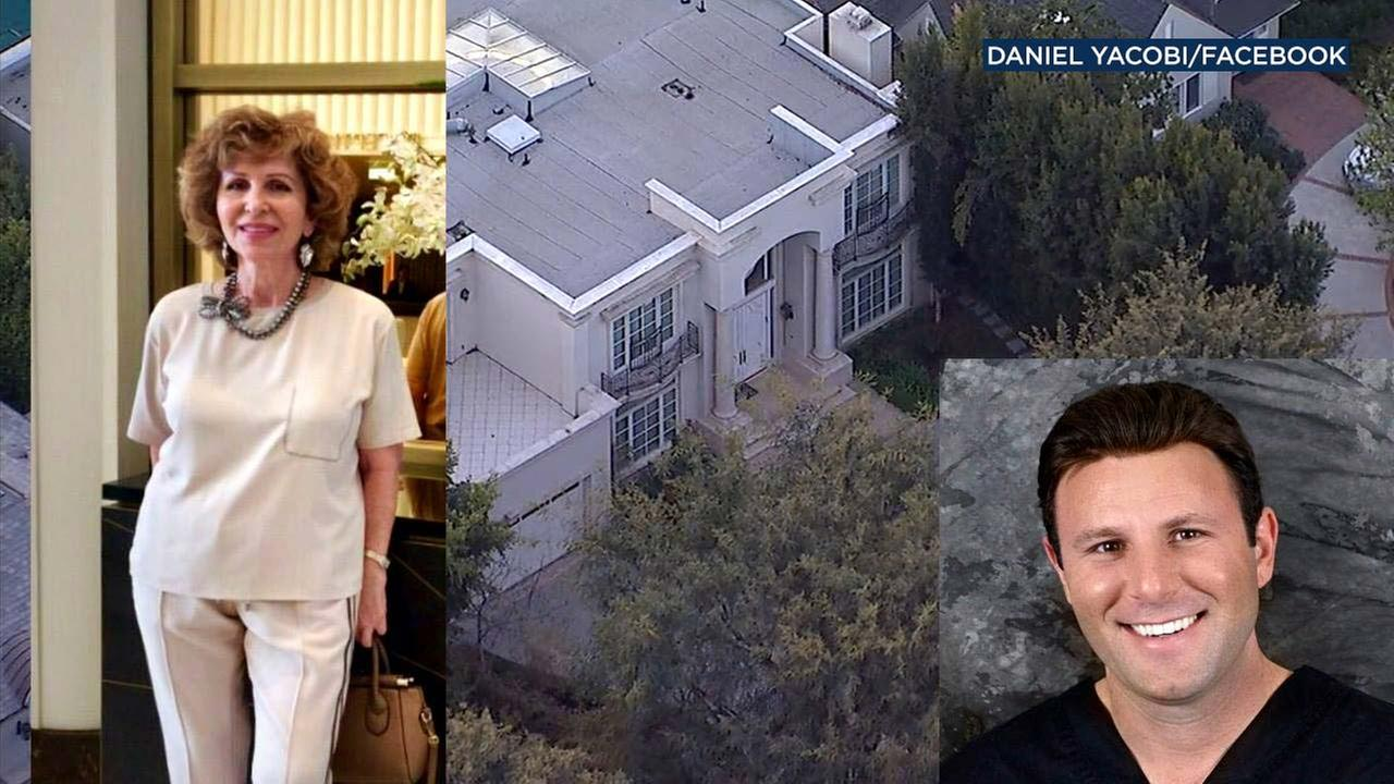 Violet Yacobi, her son Daniel and their familys mansion are seen in photos.