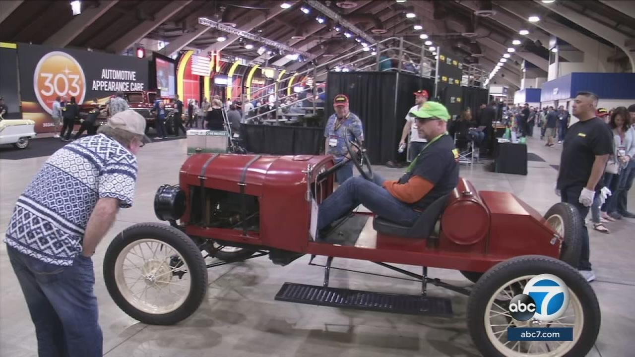 The Mecum car auction at the Pomona Fairplex offers a wide range of automotive treasures for the public to admire or purchase.