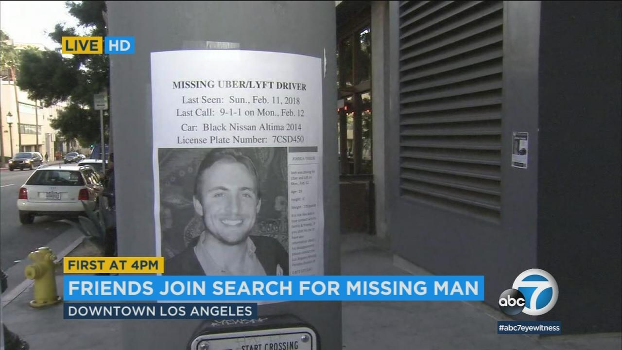 Friends are asking for the publics help locating rideshare driver Josh Thiede, who went missing from downtown LA a week ago.