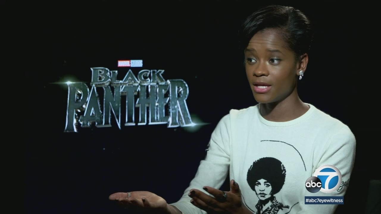 Letitia Wright, 24, is shown during an interview about her role as Shuri, TChallas sister, in Marvels Black Panther.