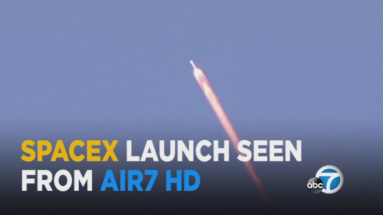 Elon Musks SpaceX launched its latest rocket from the Vandenberg Air Force Base Thursday, and AIR7 HD captured the spectacular sight.