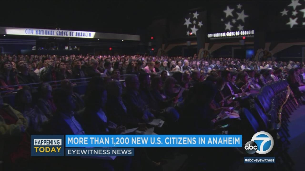 Immigrants of every creed, race and nationality became citizens in Anaheim Thursday.