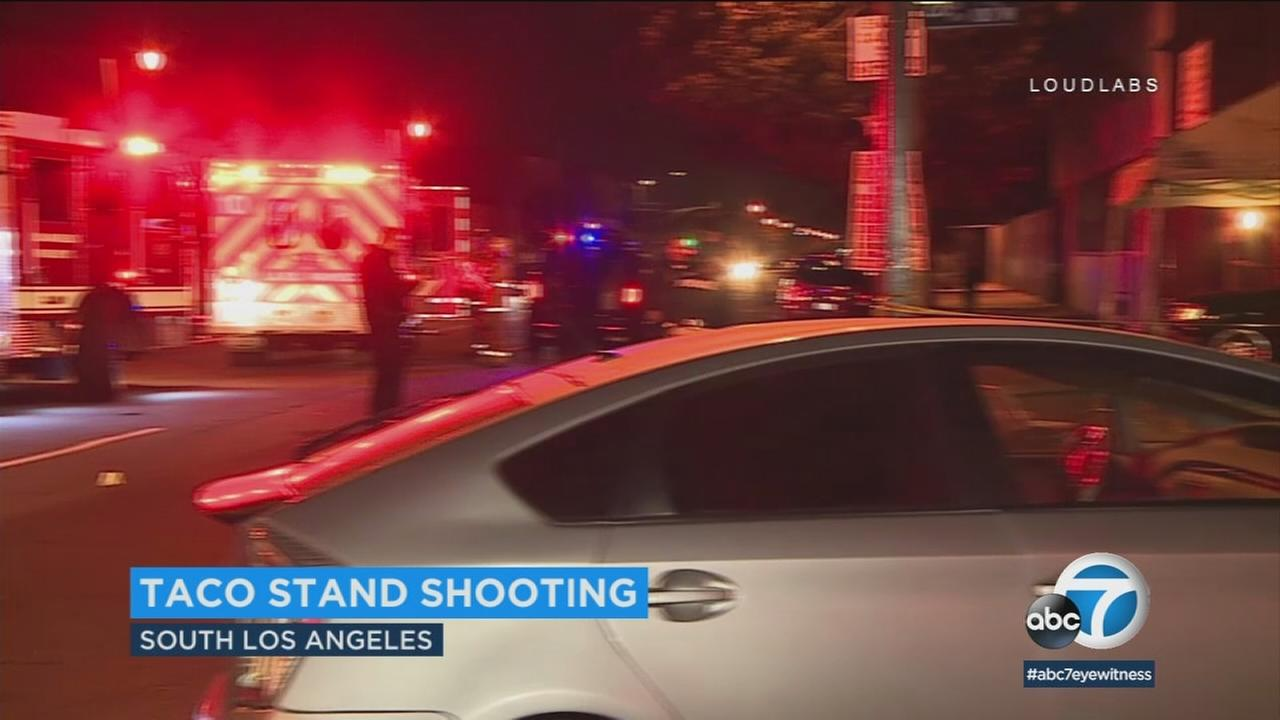 A suspect has been arrested in connection with a shooting at a taco stand in South Los Angeles.