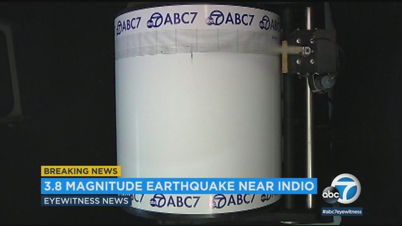 The ABC7 Quake Cam captured the shaking from a 3.8-magnitude earthquake that struck Riverside County on Monday, Feb. 26, 2018.