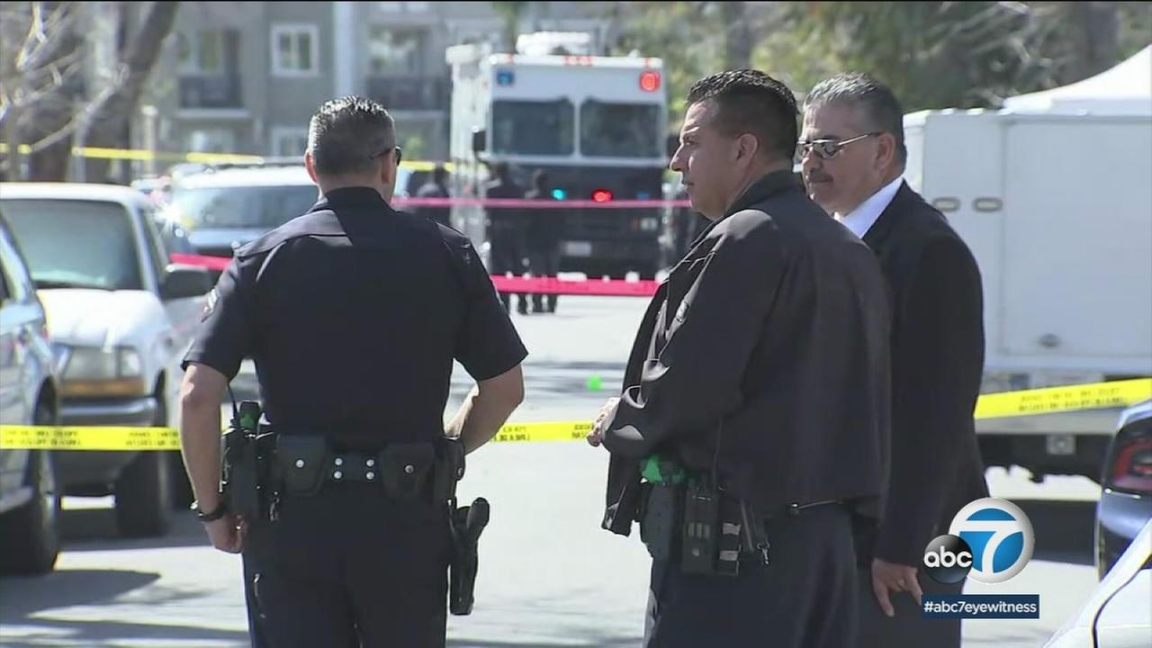 A man who police said was armed with a 16-inch blade was fatally shot by Los Angeles police in Panorama City Monday.