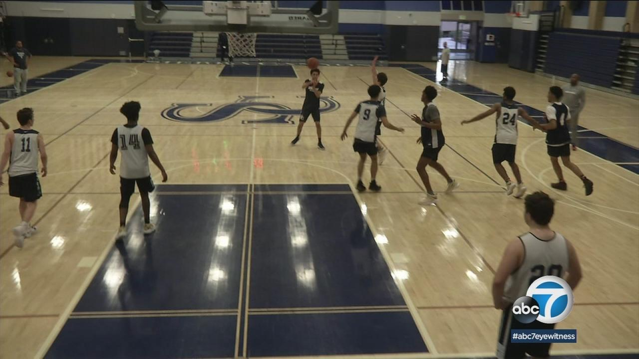 The Sierra Canyon boys basketball team is not satisfied with upsetting the defending state champions. Their goal is to win the state championship.