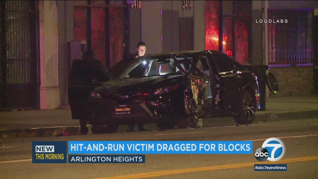 Police say a man was reaching out of his parked car when he was hit at about 11:30 p.m. Sunday, March 4, 2018, at the corner of Washington Boulevard and 4th Avenue.