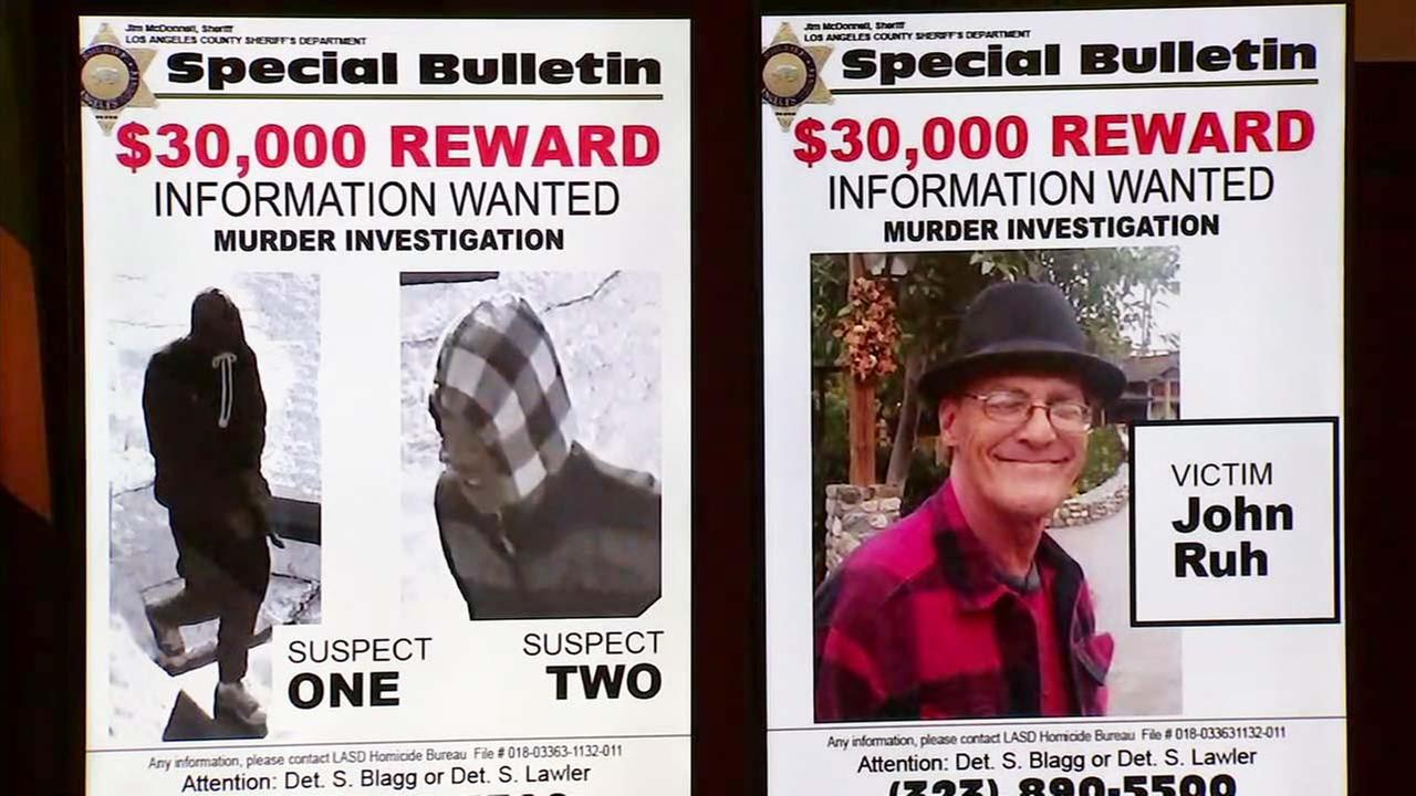 John Ruh, 61, is seen on a poster from the sheriffs department.