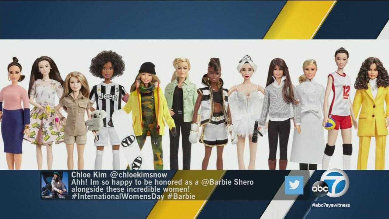 Barbie is releasing 17 new dolls to celebrate International Womens Day on Thursday, including one of Olympic snowboarder Chloe Kim.