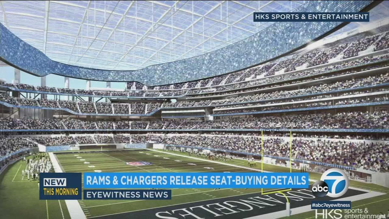The stadium at Hollywood Park is currently a construction site. But the Rams and the Chargers are eager to show you to your seat.