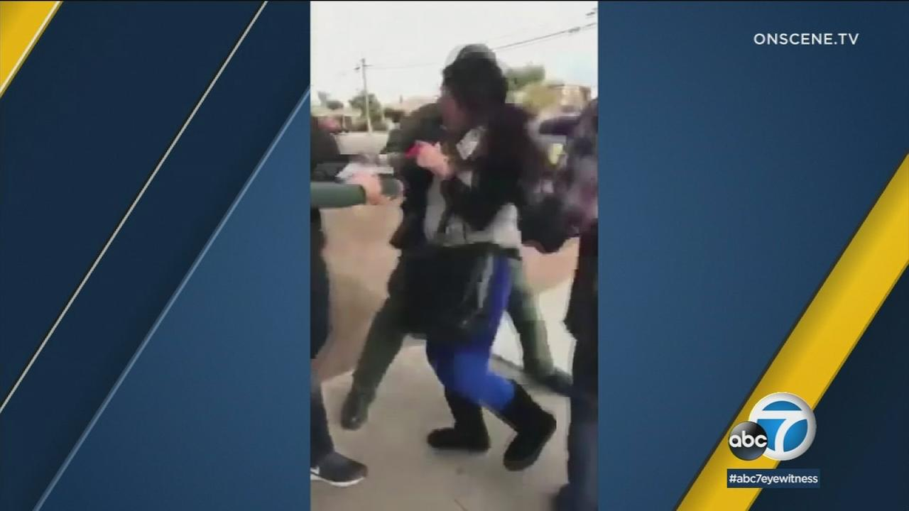 A video shows ICE agents arresting a mother in front of her children in San Diego. The agents said she was detained for being in the country illegally.