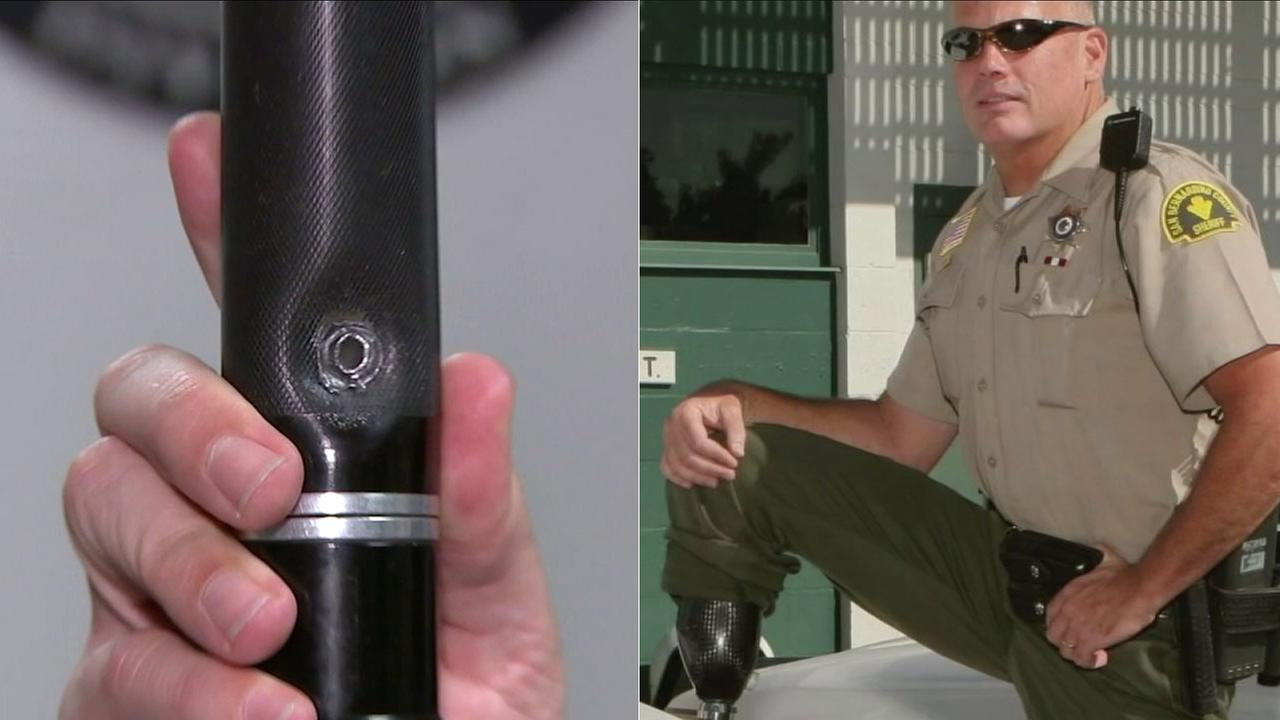 Lt. Jim Considine lost his leg when shot by a suspect, but he couldve lost his life if his flashlight hadnt blocked another AK-47 round.