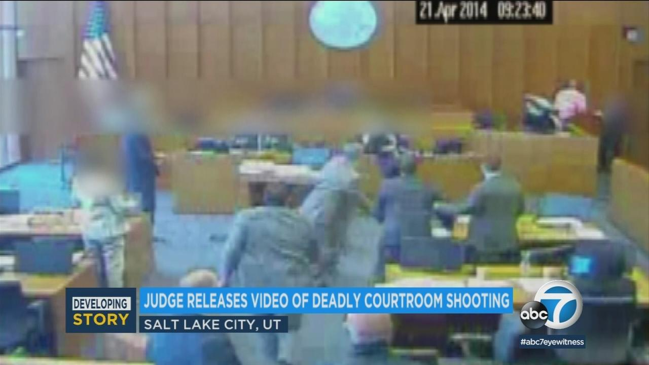 Four years later, a judge has finally released graphic video of a violent courthouse confrontation in Utah.